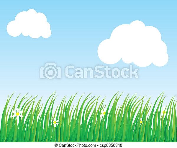 Lush grass. - csp8358348