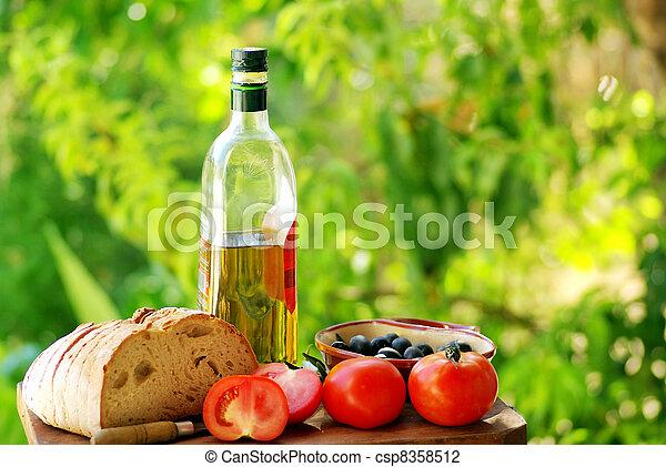 Ingredients of the mediterranean cuisine - csp8358512