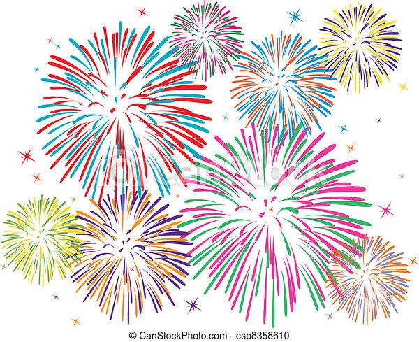 Fireworks Stock Illustrations. 36,607 Fireworks clip art images ...
