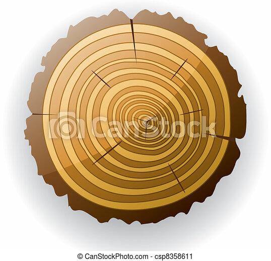 vector wooden cut clip-art - csp8358611