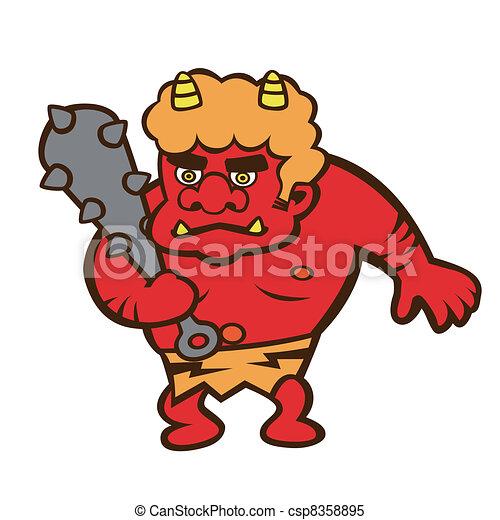 Demon's illustration - csp8358895