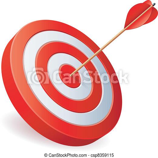 Target with arrow. - csp8359115