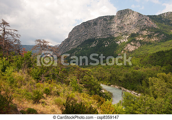High rocks in the Haute Provence - csp8359147