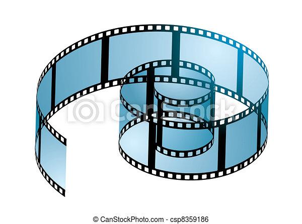 Film reel curl - csp8359186