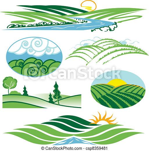 Rolling Green Hills - csp8359481