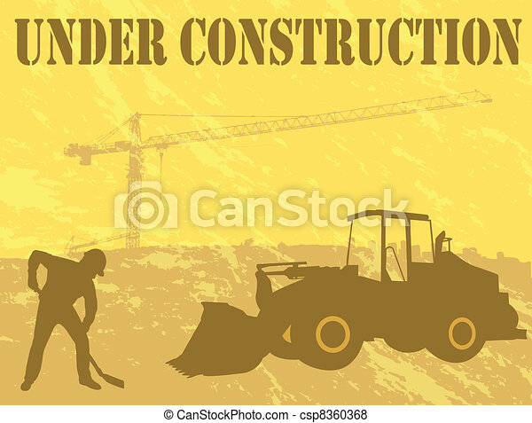 under construction background - csp8360368