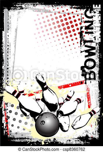 bowling poster - csp8360762