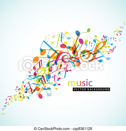 Abstract background with colorful tunes. - csp8361128