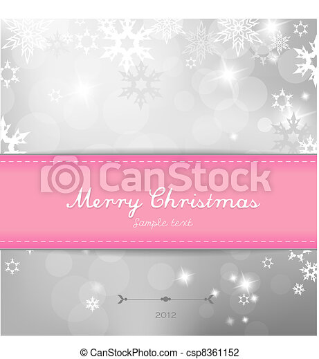Christmas silver background with snow flakes. - csp8361152