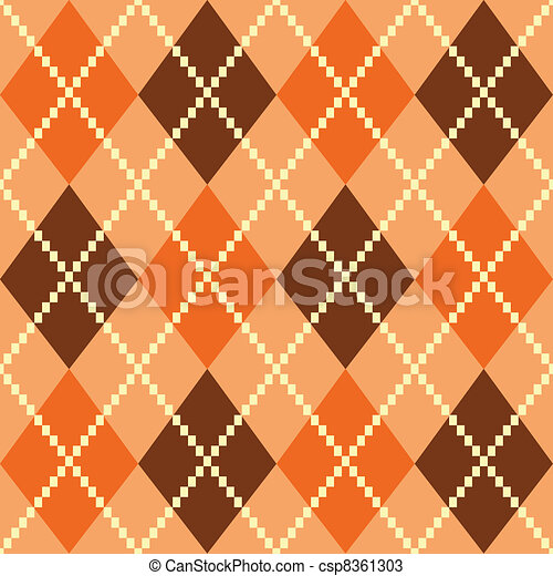 Retro colorful argile pattern or background - brown - csp8361303