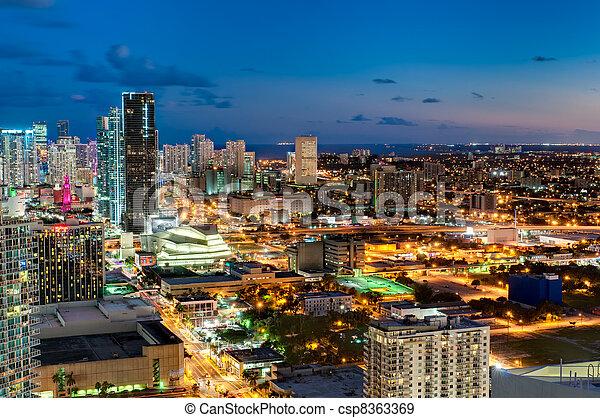 Downtown Miami Skyline - csp8363369