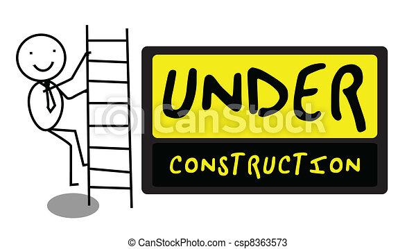 Under Construction people illustrat - csp8363573