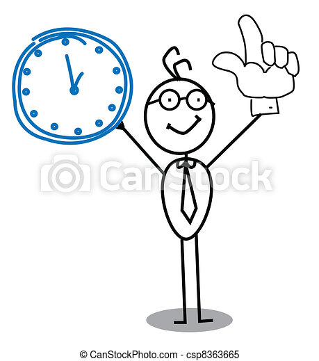 Clock Businessman  - csp8363665