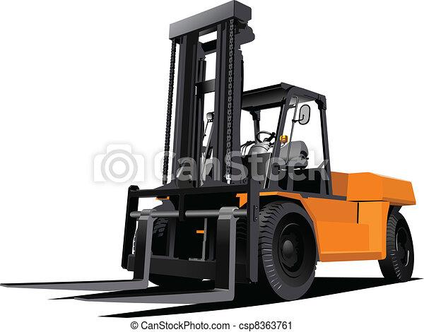 Lift truck. Forklift. Vector illus - csp8363761
