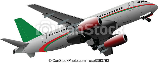 Passenger  Airplane on the air. Ve - csp8363763