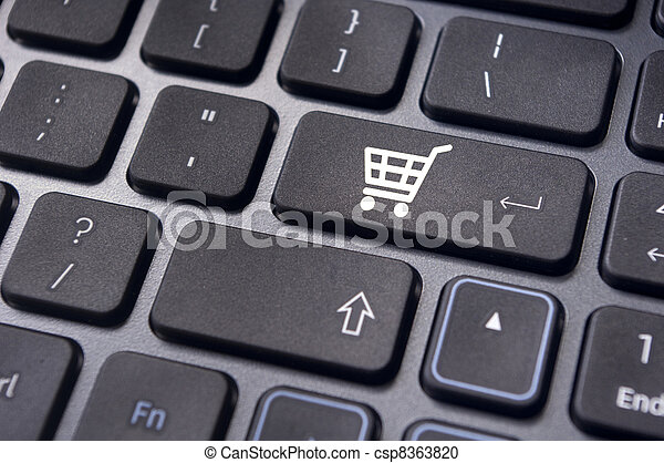 online shopping concepts with cart symbol - csp8363820