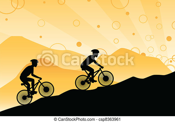 Mountain bikers - csp8363961