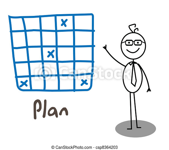 Businessman Plan  - csp8364203