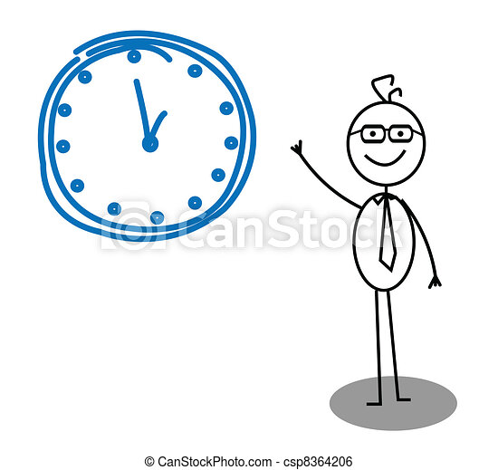 Clock Businessman  - csp8364206