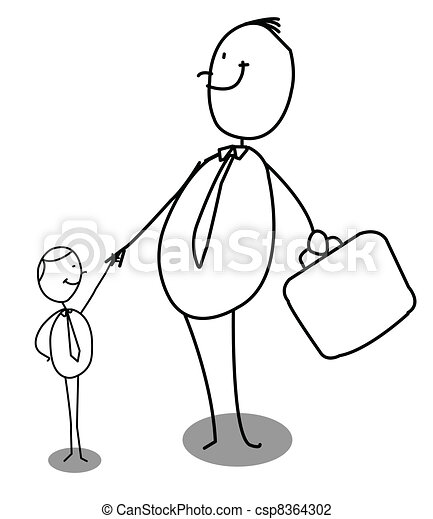 Illustration vecteur de petit grand homme affaires grand petit homme csp8364302 - Grand dessin a colorier ...