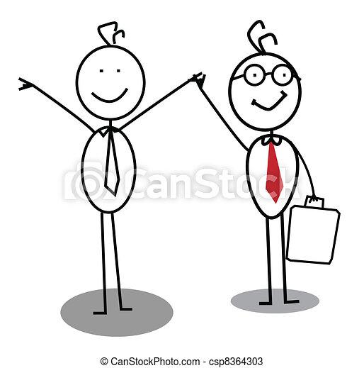 Businessman achievement  - csp8364303