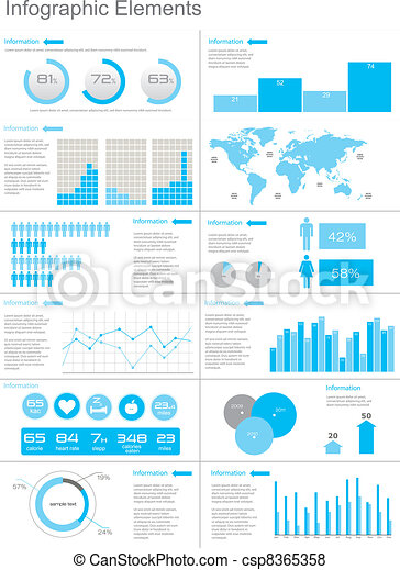Vector Set elements of infographics - csp8365358