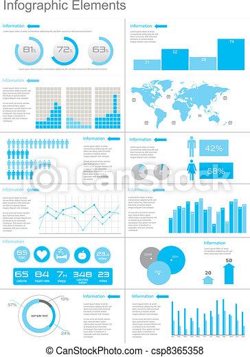 Vector Set elements of infographics - csp8365358