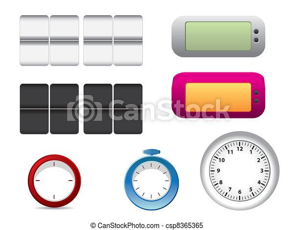 Office clock faces - csp8365365