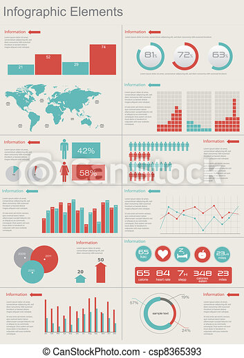 Vector Set elements of infographics - csp8365393