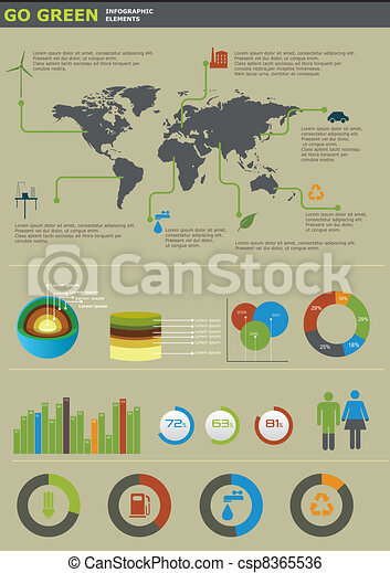 Ecology info graphics collection - csp8365536