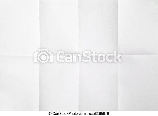 white sheet of paper folded - csp8365619
