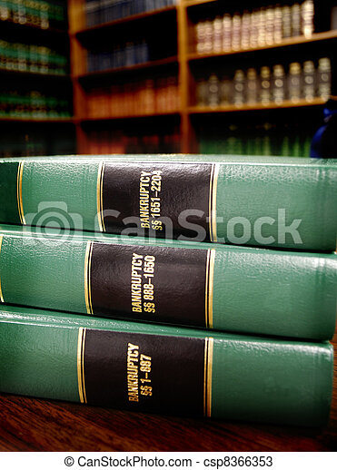 Law Books on Bankruptcy - csp8366353