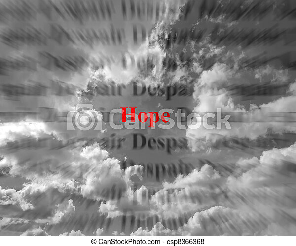 Hope and Despair - csp8366368