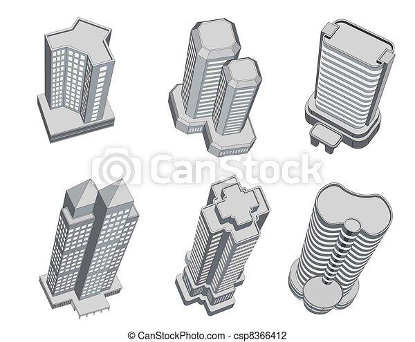 Tall Buildings Drawings Tall Buildings Csp8366412