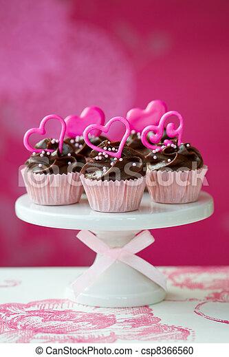 Valentine cupcakes - csp8366560