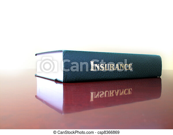 Law Book on Insurance - csp8366869