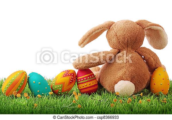 huevos, Pascua, colorido - csp8366933