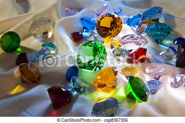 Collection of glass gems - csp8367356