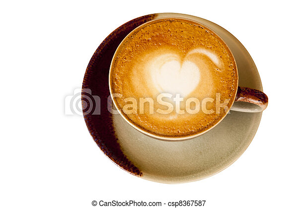 mocha hot cup coffee - csp8367587