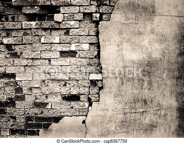 Detail of Old Brick Wall - csp8367759