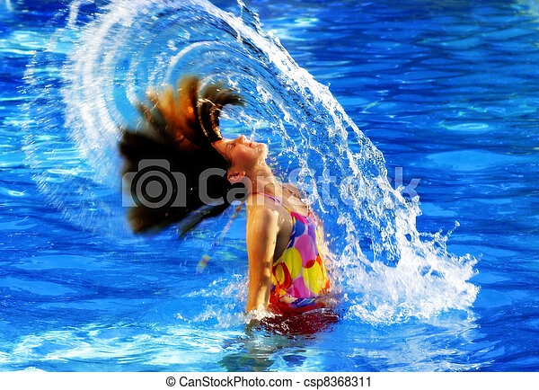Summer Swimming Fun - csp8368311