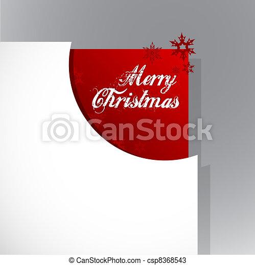 Christmas corner with snow flakes. - csp8368543