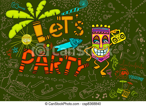 Tiki Party - csp8368840
