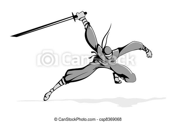 Ninja in Action - csp8369068