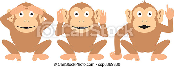 Three Wise Monkeys - csp8369330