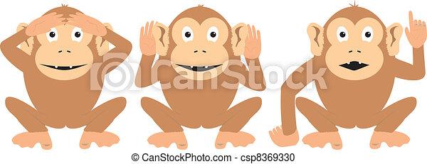 Three Wise Monkeys - csp8369330