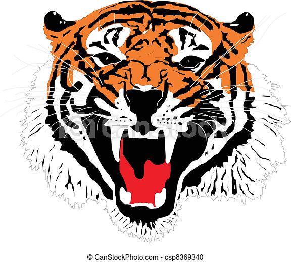 Clipart vecteur de tigre sumatran t te tigre dessin csp8369340 recherchez des images - Image dessin tigre ...