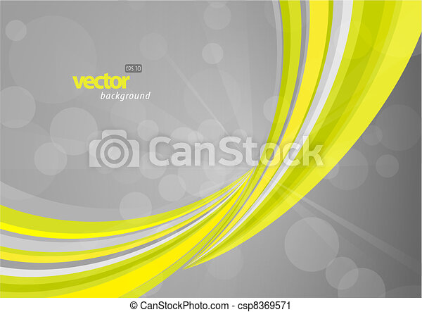 Abstract background with green lines. - csp8369571