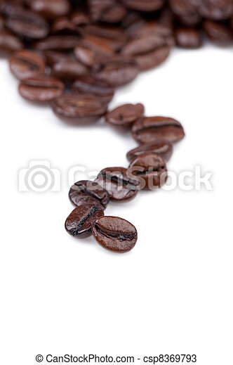 Intensely dark coffee beans.  - csp8369793