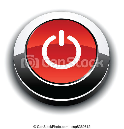 Switch 3d round button. - csp8369812